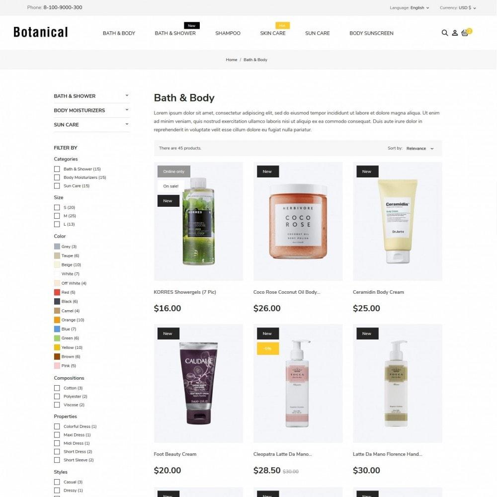 theme - Health & Beauty - Botanica Cosmetics - 5