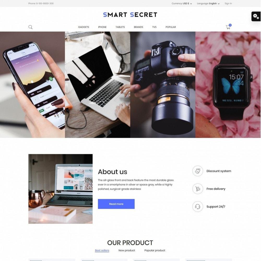 theme - Electronics & Computers - Smart secret- High-tech Shop - 2