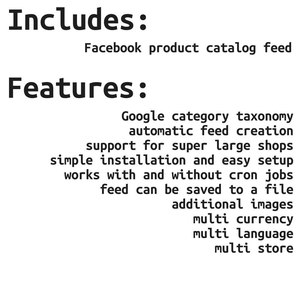 module - Produkte in Facebook & sozialen Netzwerken - Social Network Product Catalog XML Feed (Feed Manager) - 2