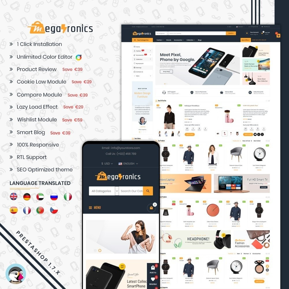theme - Elettronica & High Tech - Megatronics Store Template - 1