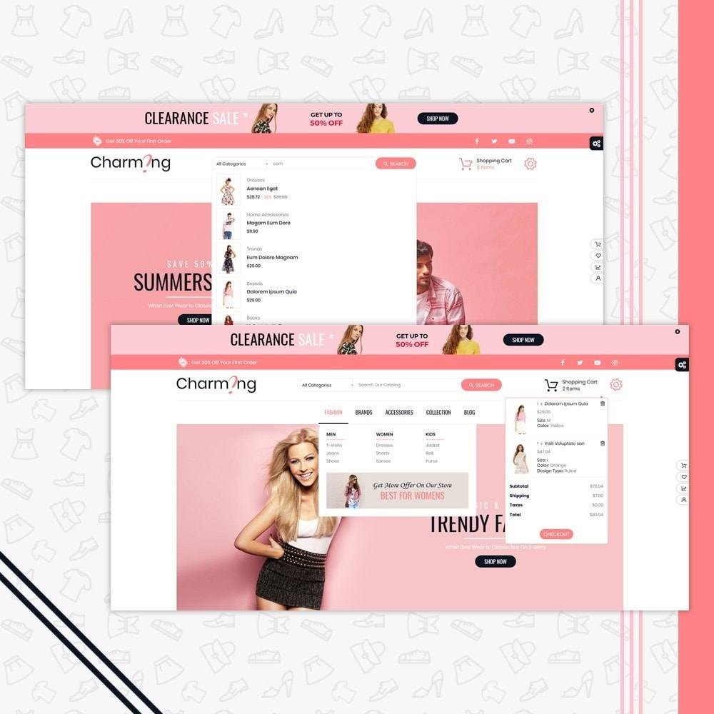 theme - Mode & Schoenen - Charming Superstore Shop Template - 6