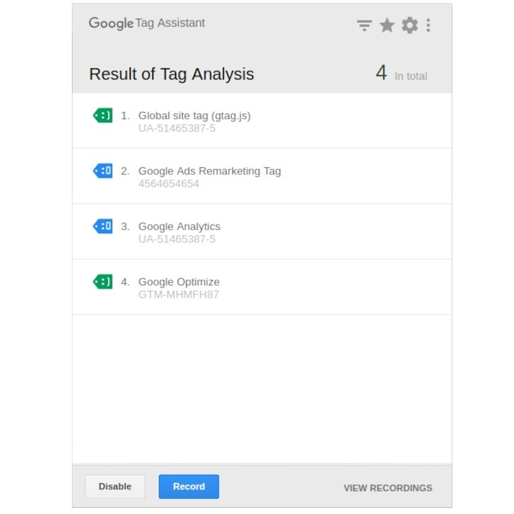 module - Analyses & Statistieken - Script Manager (Google & Social network tags) - 10