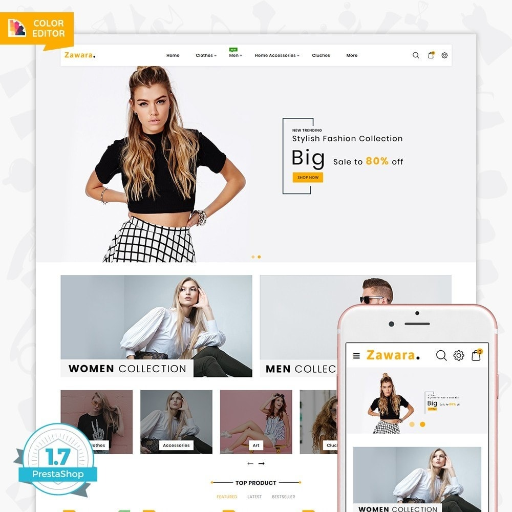 theme - Fashion & Shoes - Zawara - The Fashion Store - 1