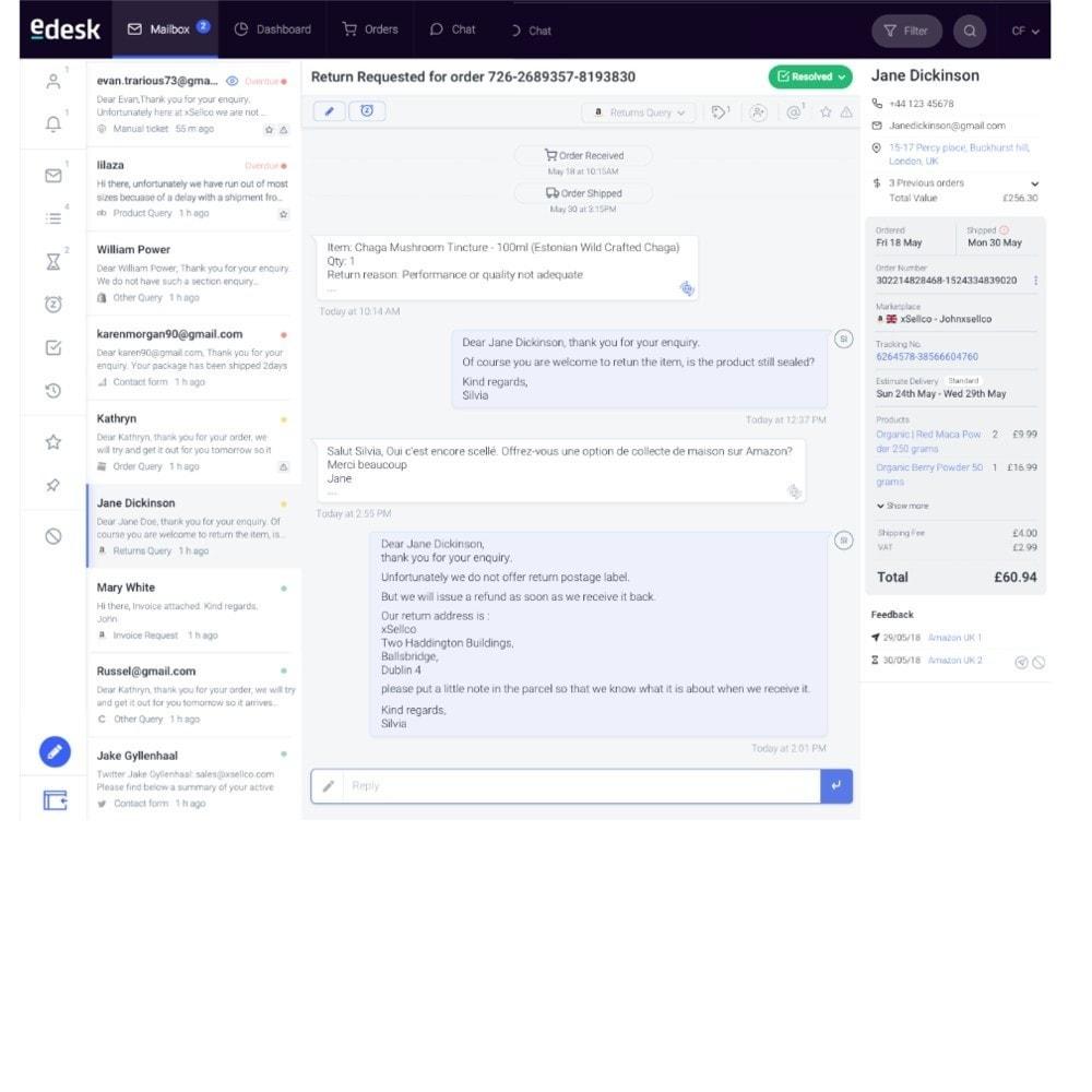 module - Servizio post-vendita - eDesk by xSellco - 3