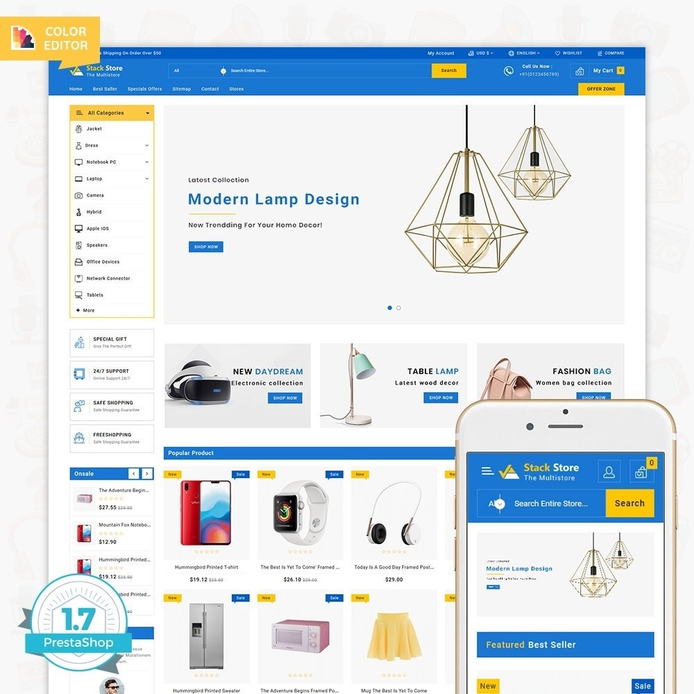 theme - Electronics & Computers - StackStore - The Multi Store - 1