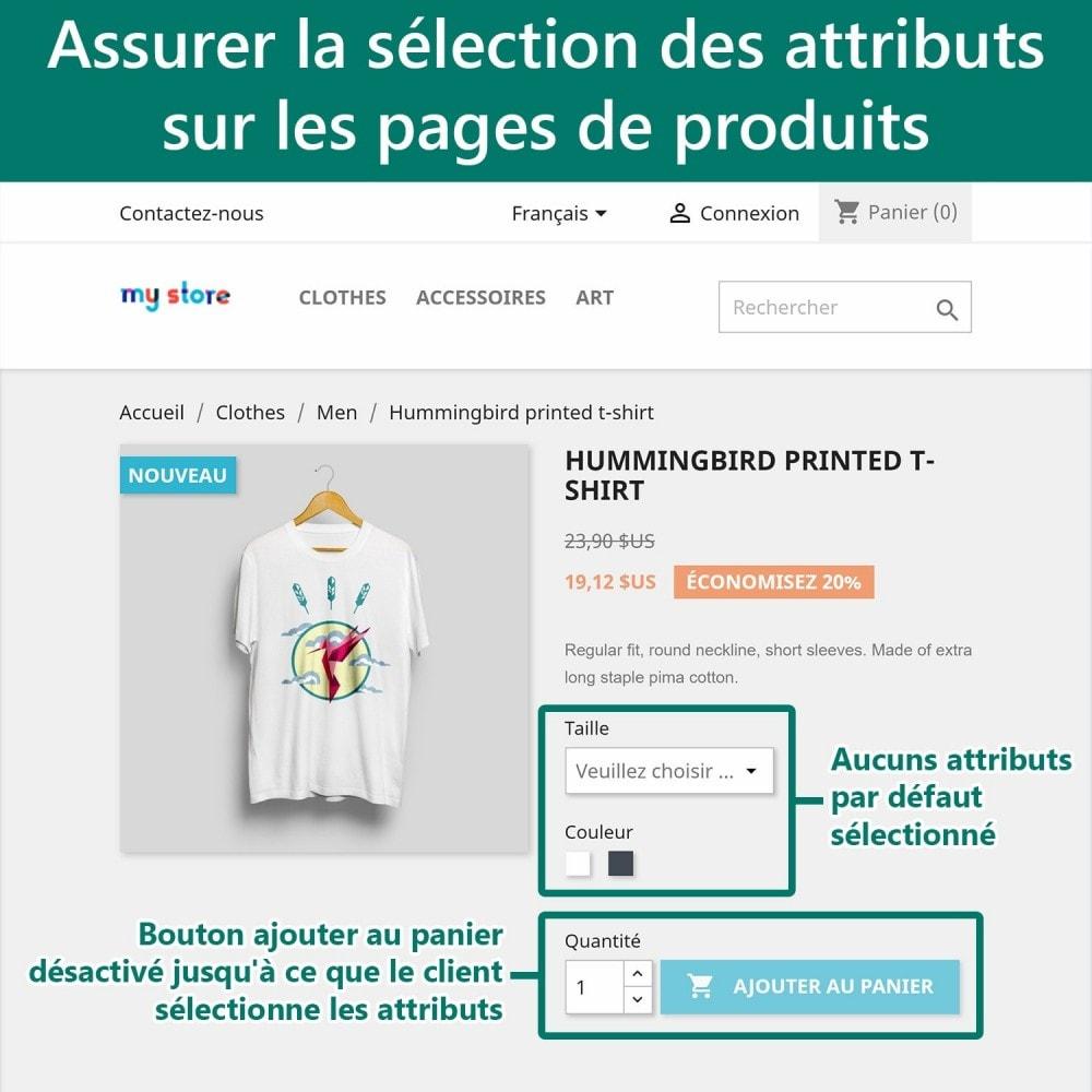 module - Déclinaisons & Personnalisation de produits - Exiger la sélection d'attributs - 2