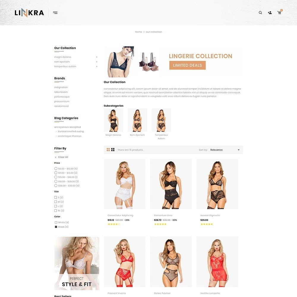 theme - Lingerie & Adultos - Linkra - The Ladies Inner Wear Shop - 4