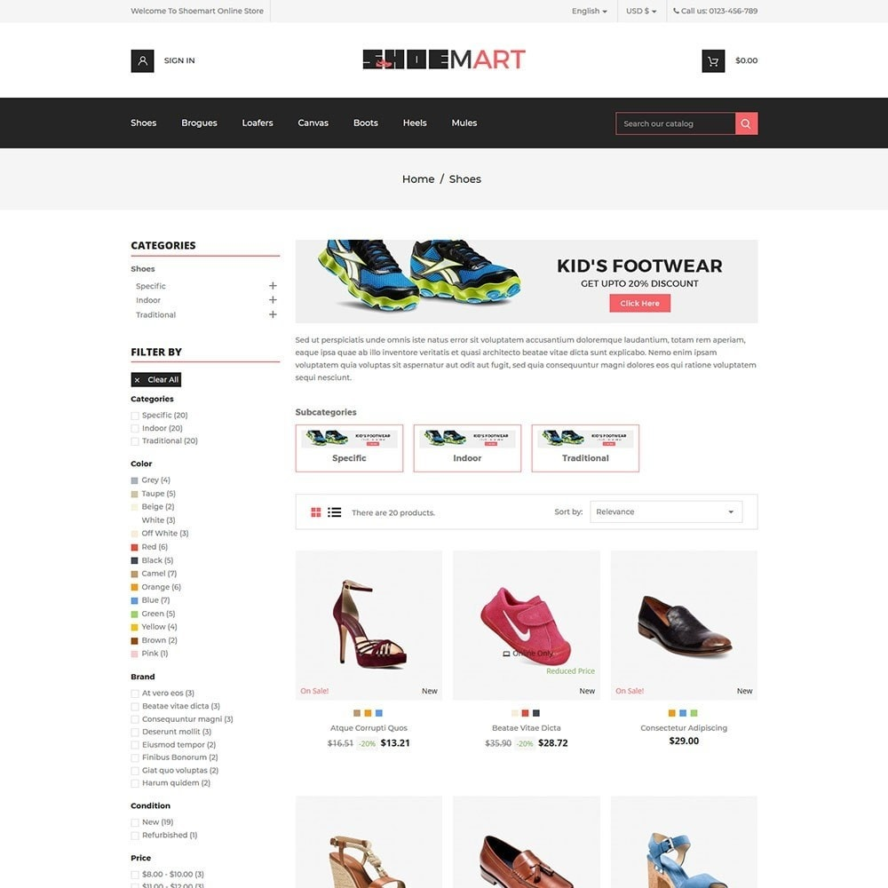 theme - Mode & Chaussures - Shoemart - Shoes Online Store - 3