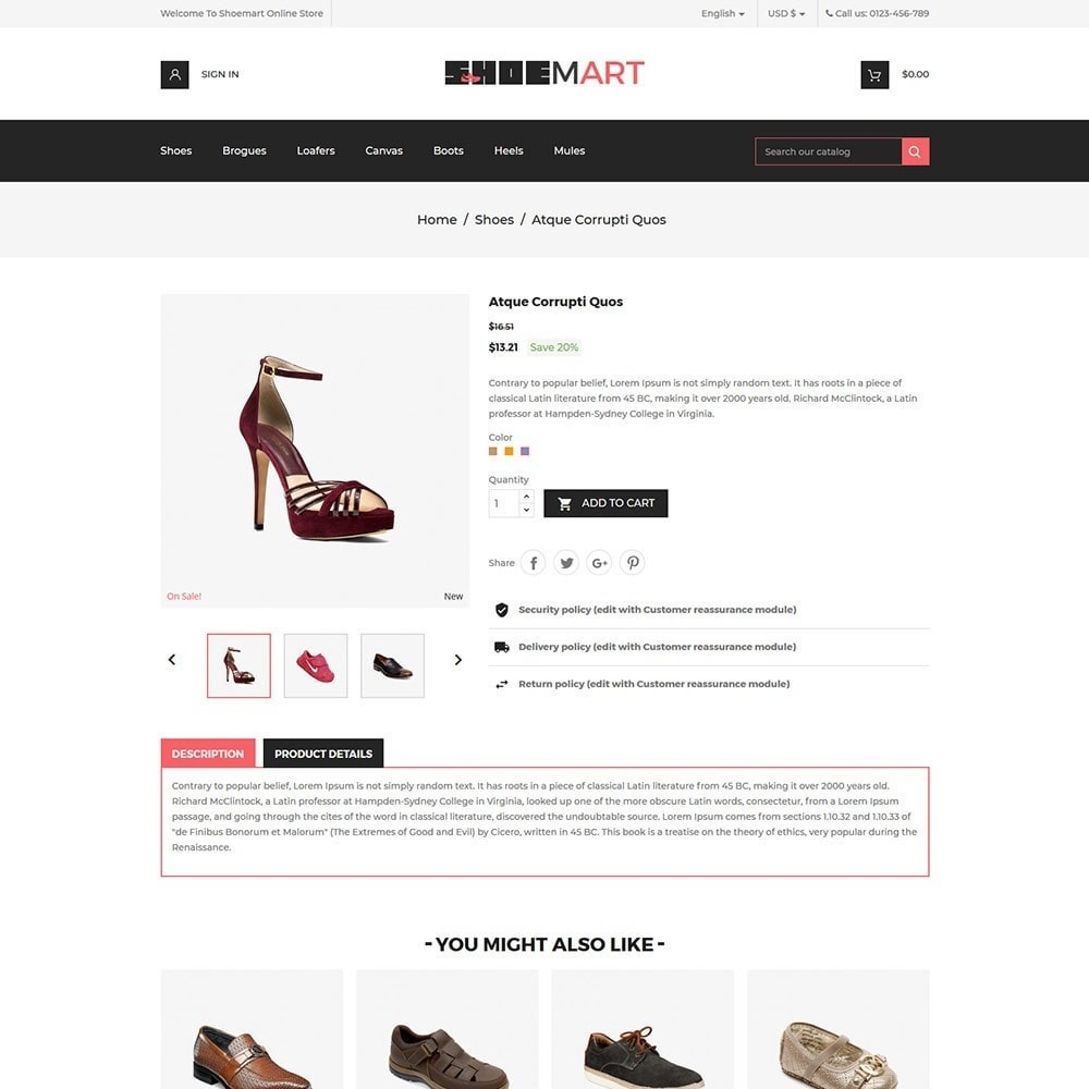 theme - Mode & Chaussures - Shoemart - Shoes Online Store - 5