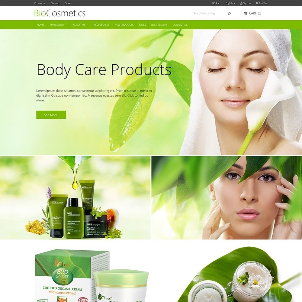theme - Health & Beauty - DT Bio Cosmetic - 2