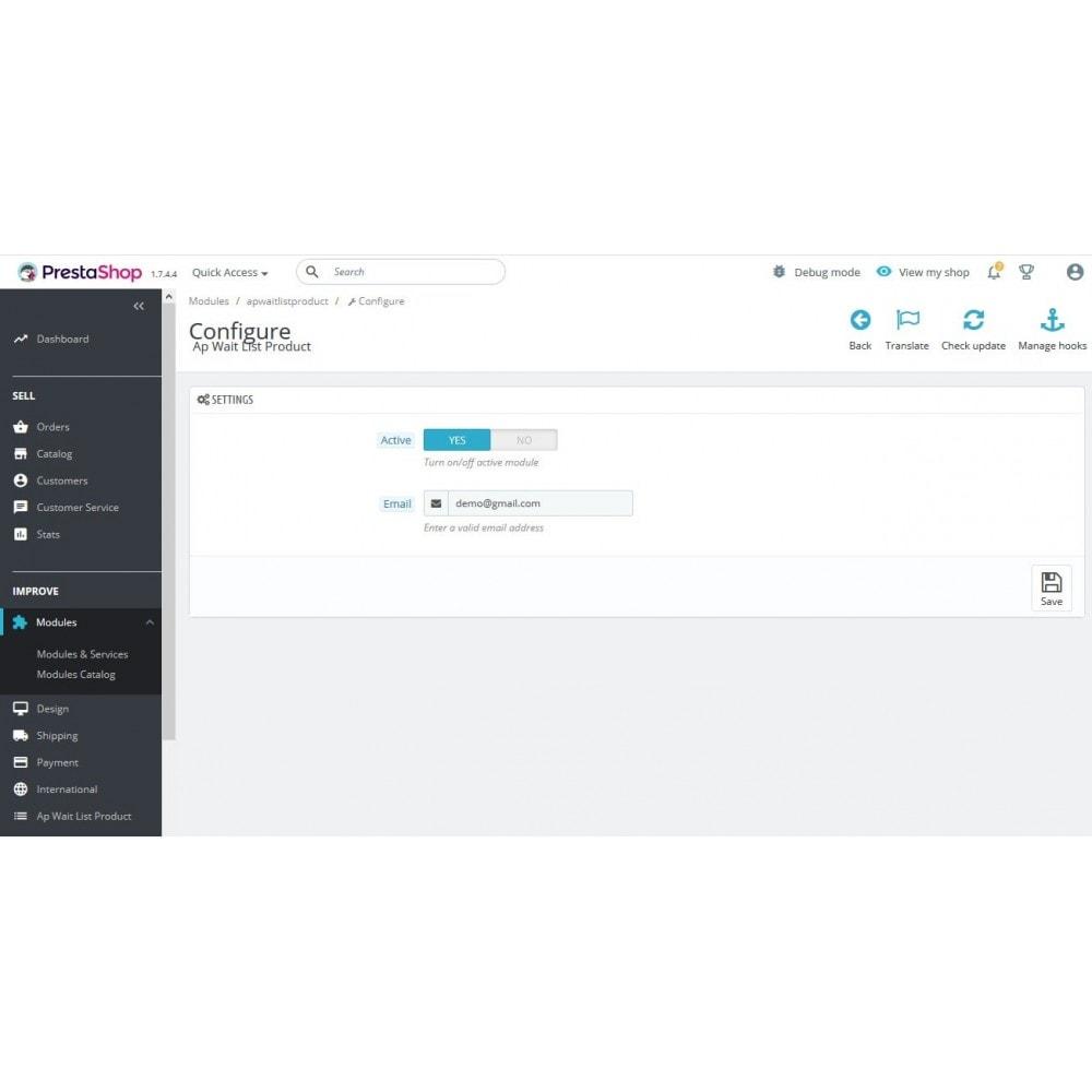 module - Altre informazioni & Product Tab - Ap Wait List Product - 2