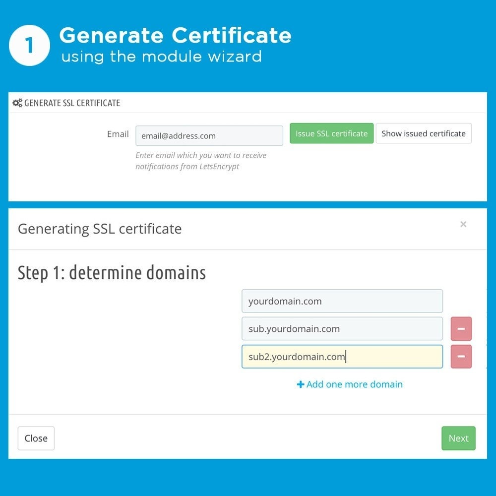module - SEO (référencement naturel) - Free SSL certificate by Let's Encrypt - 3