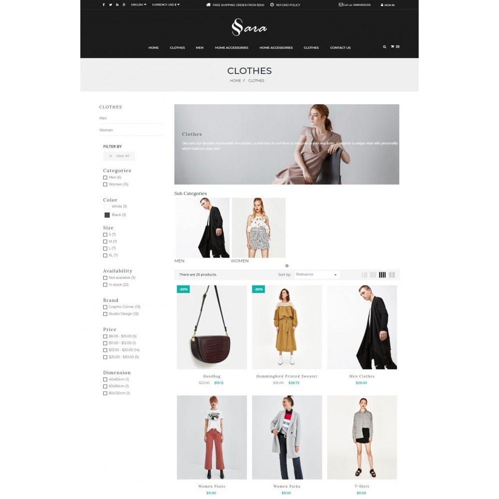 theme - Мода и обувь - Sara Fashion Cloth Store - 4
