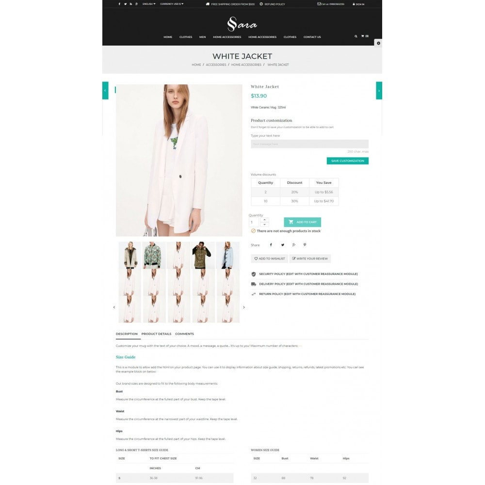 theme - Мода и обувь - Sara Fashion Cloth Store - 5