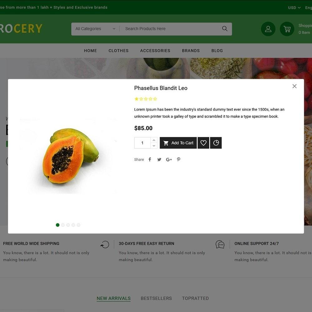 theme - Żywność & Restauracje - Grocery Store - 6