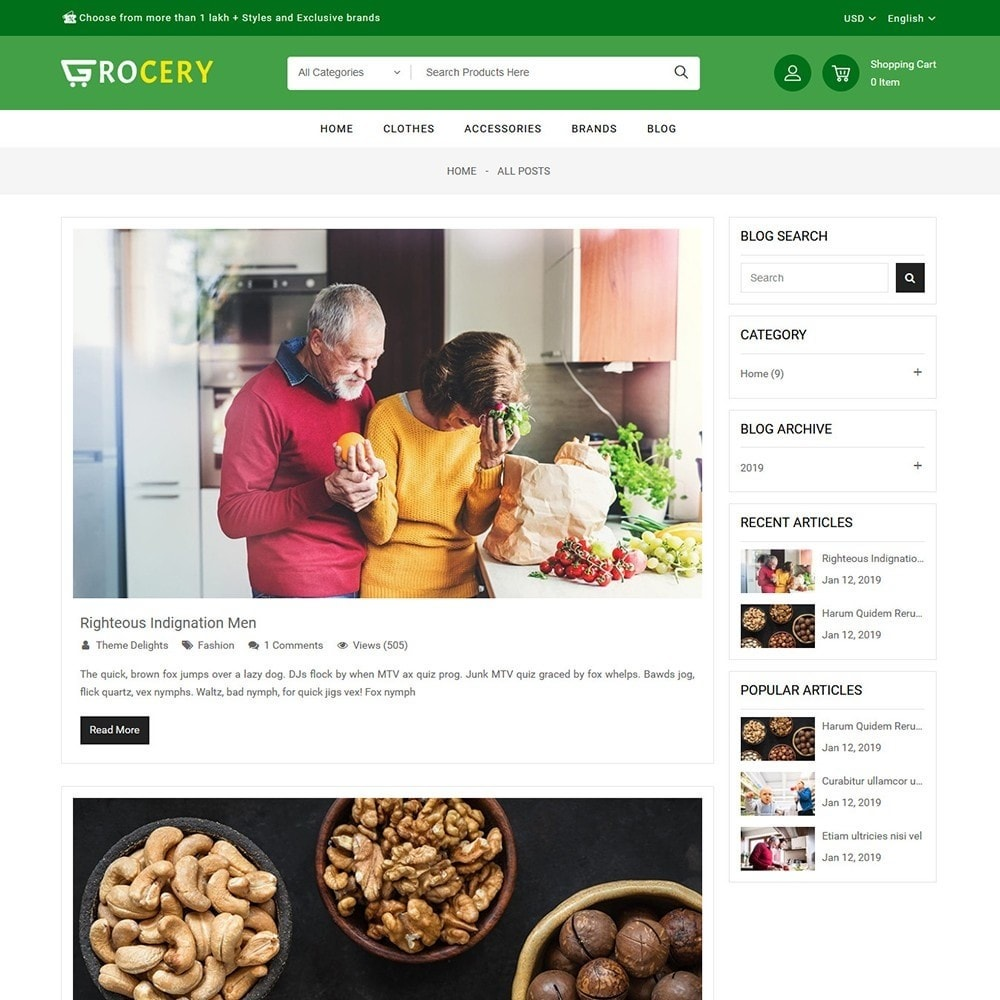 theme - Alimentation & Restauration - Grocery Store - 9