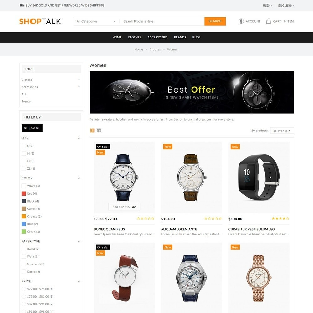 theme - Jewelry & Accessories - ShopTalk Watch Store - 4