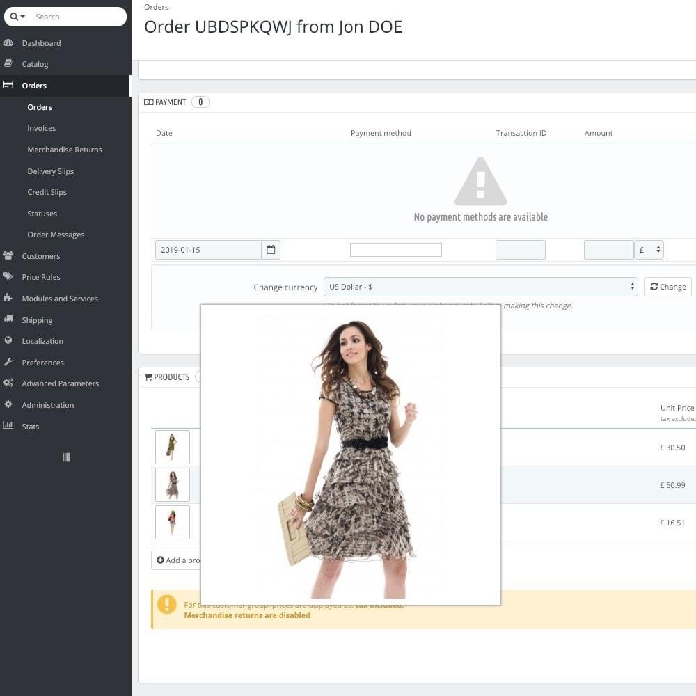 module - Registratie en Proces van bestellingen - Preview ordered products - 3