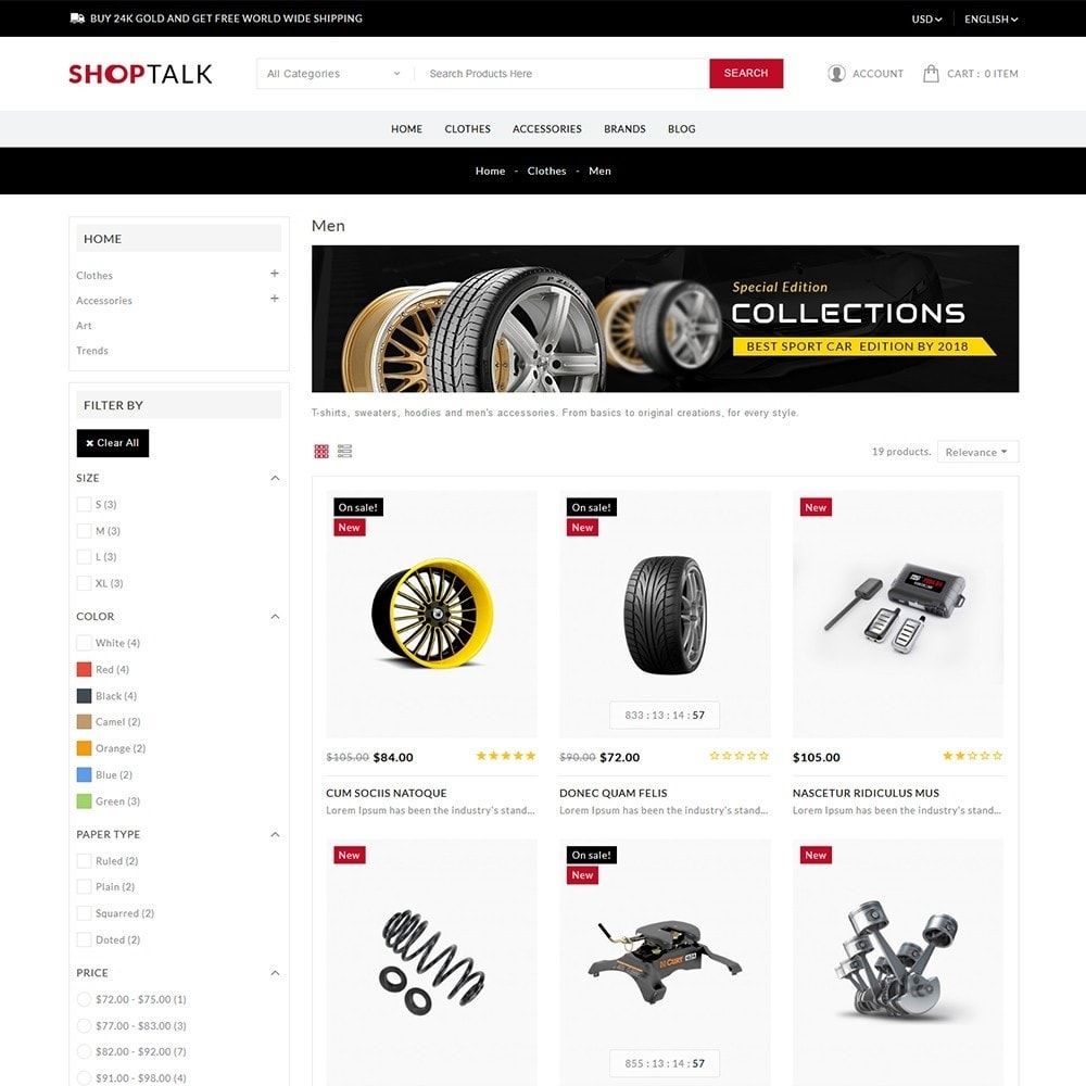 theme - Carros & Motos - ShopTalk Auto-parts Store - 4