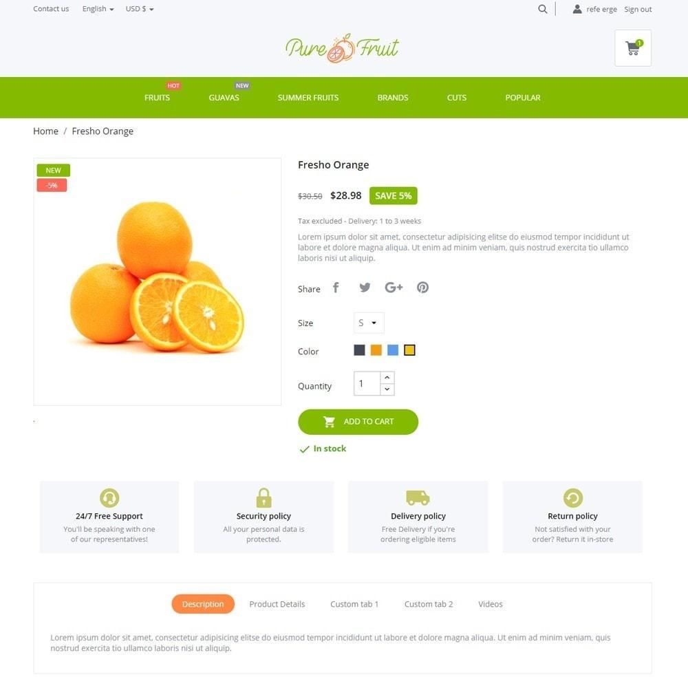 theme - Food & Restaurant - Pure Fruit - 6
