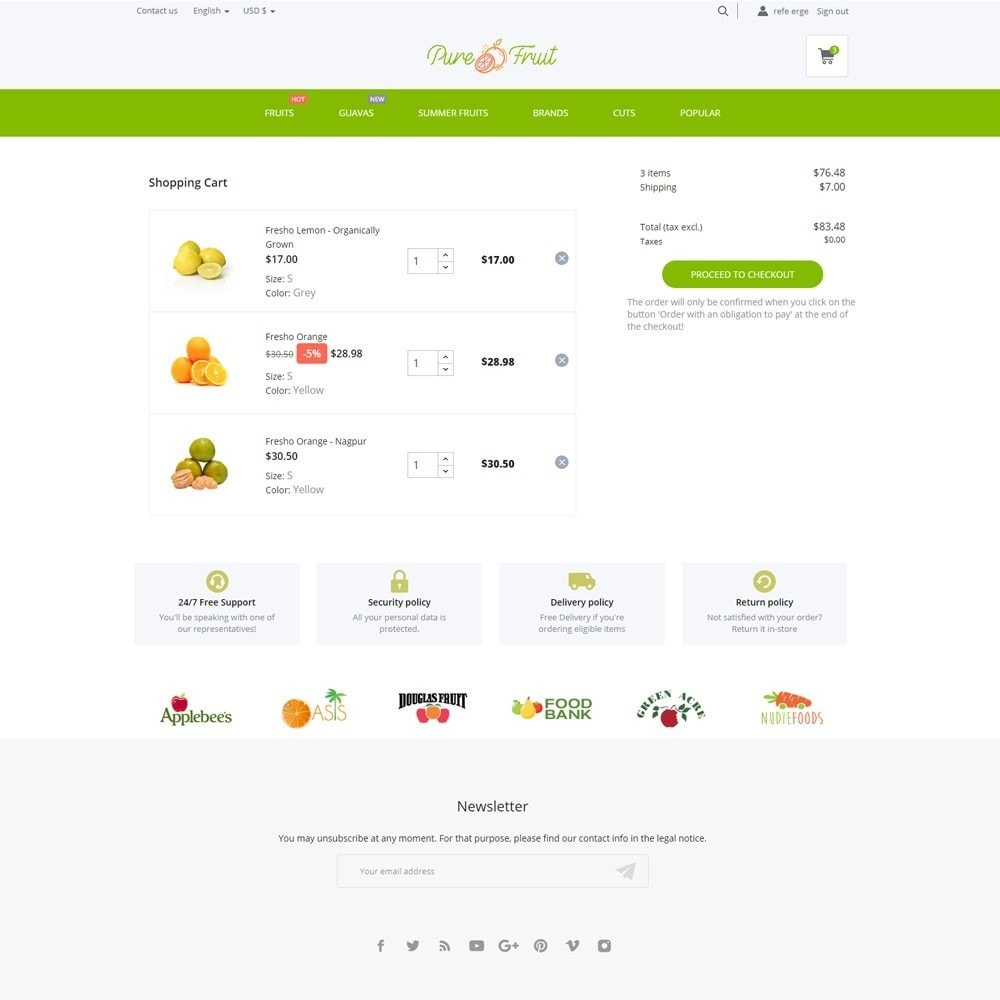 theme - Food & Restaurant - Pure Fruit - 7