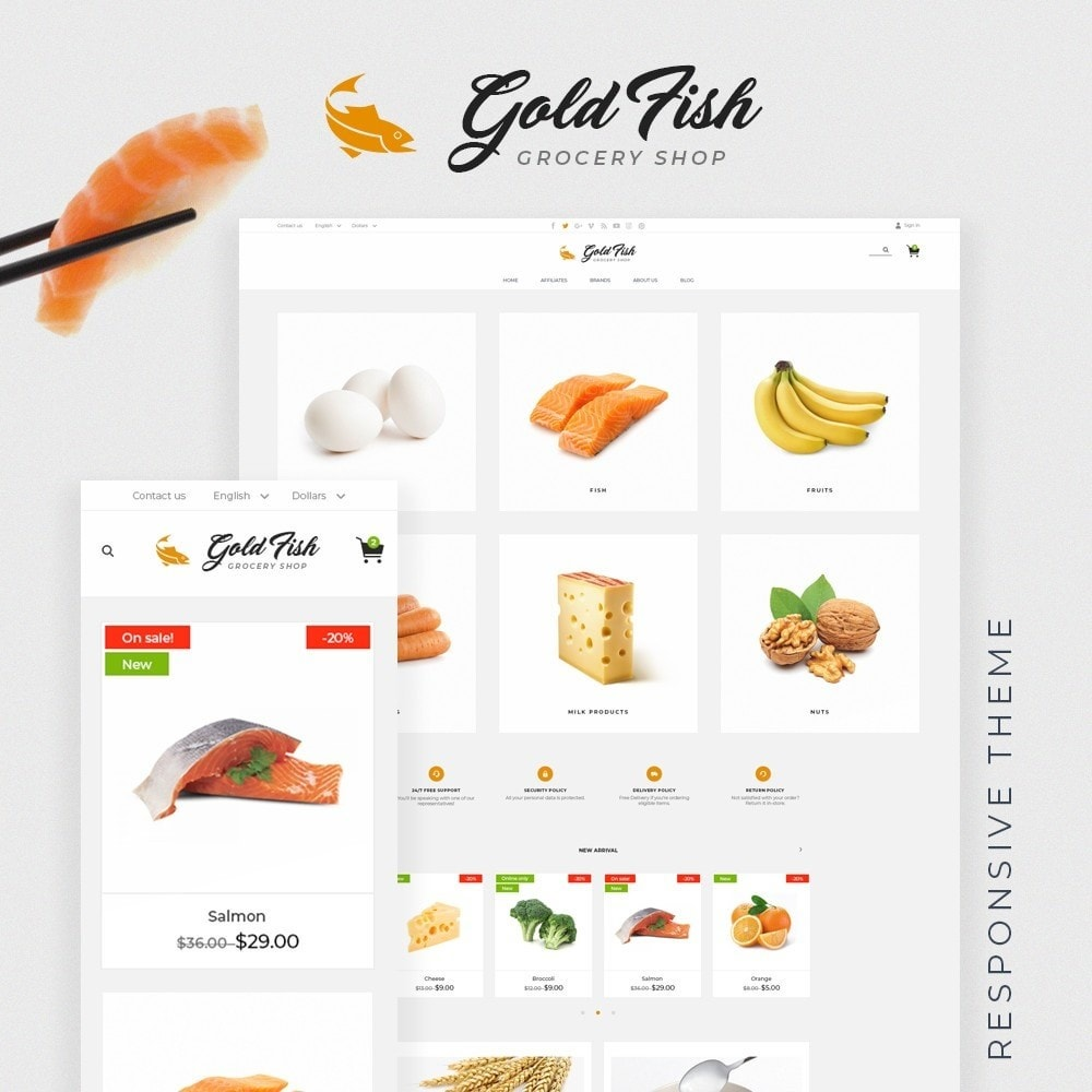 theme - Lebensmittel & Restaurants - Gold Fish - 1