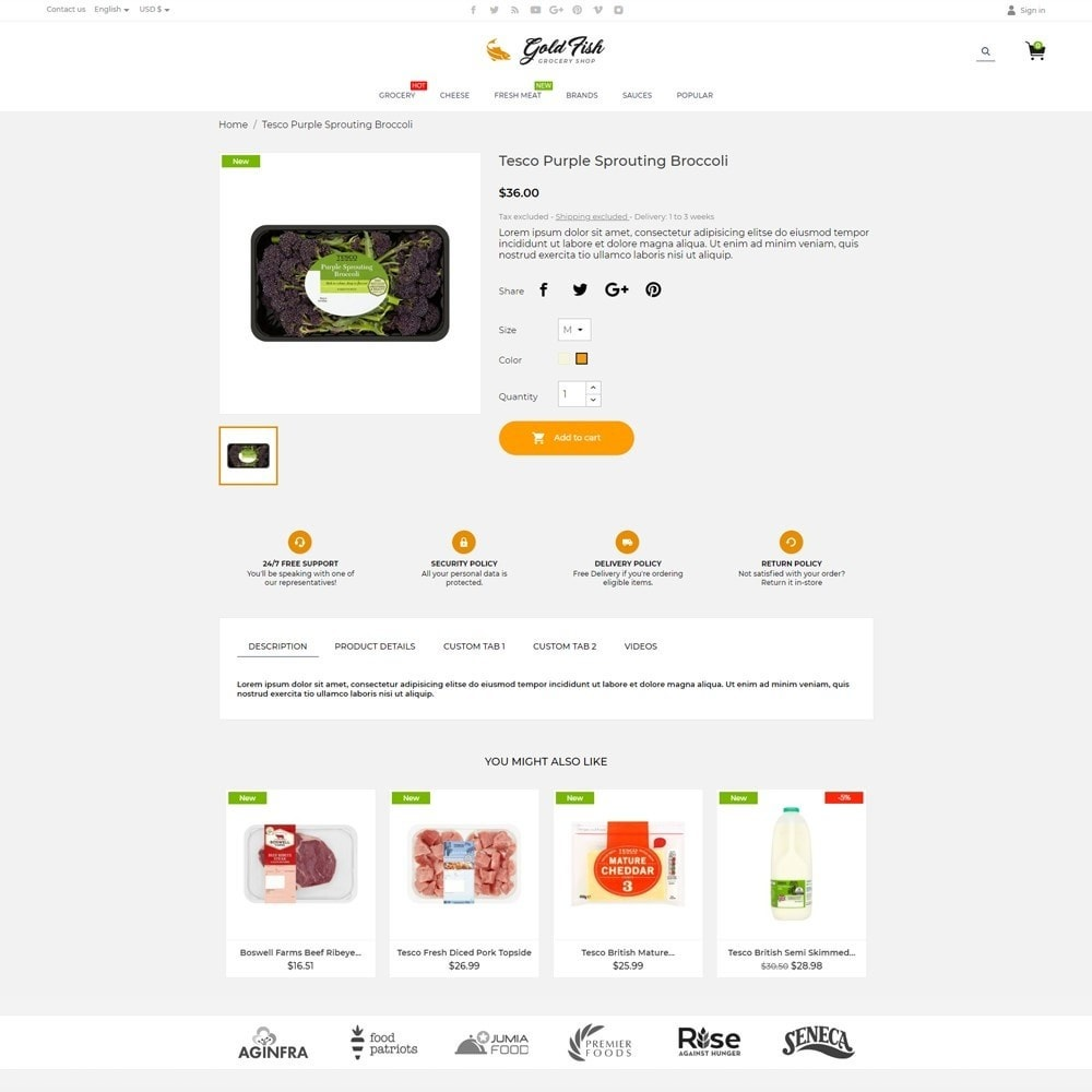 theme - Lebensmittel & Restaurants - Gold Fish - 5