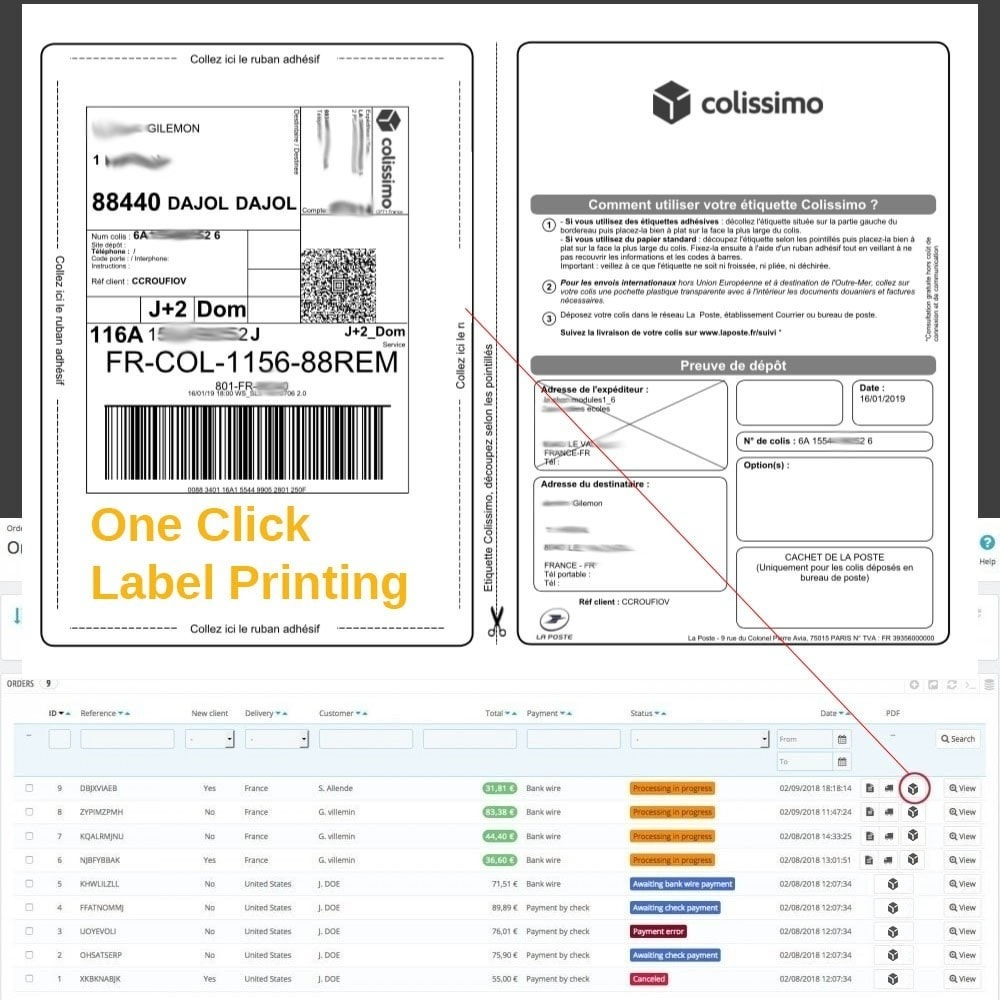 module - Voorbereiding & Verzending - SOAPCOLISSIMO - 2
