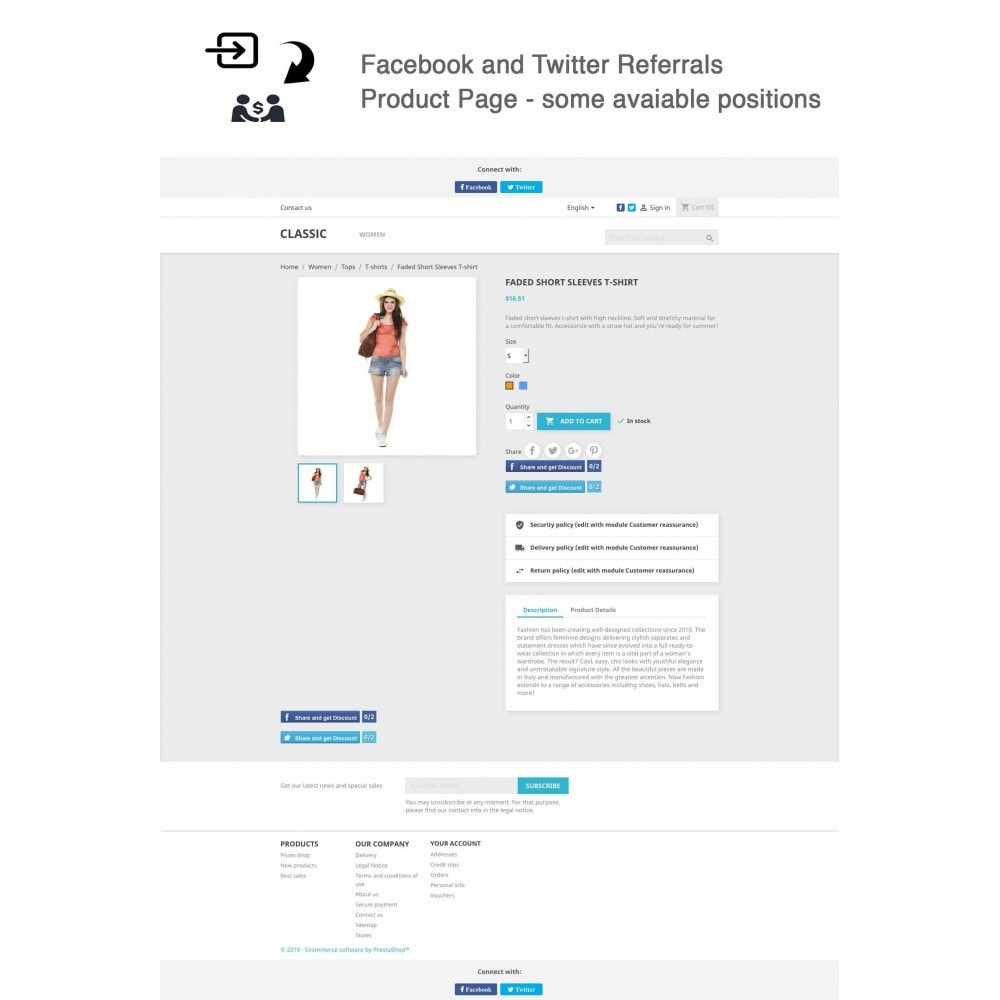 module - Descuentos en redes sociales - Social Referrals + Connects (2 in 1) - 3