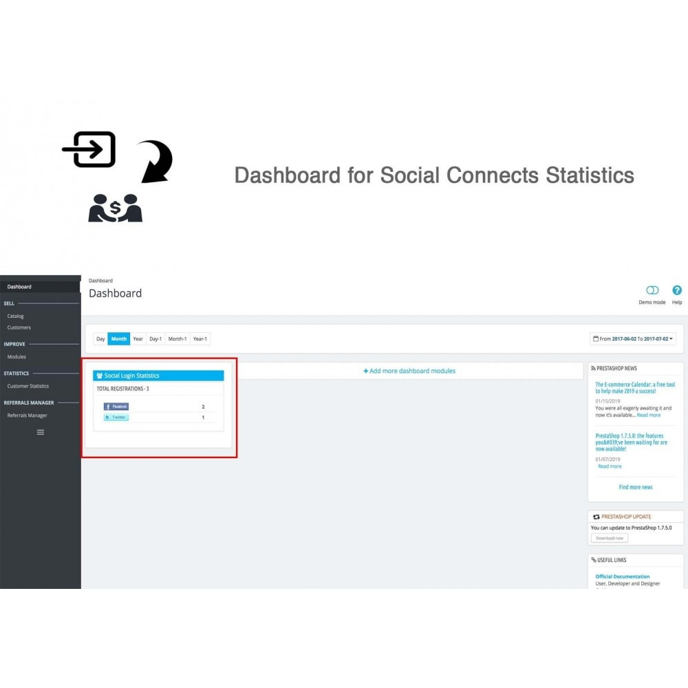 module - Descuentos en redes sociales - Social Referrals + Connects (2 in 1) - 25