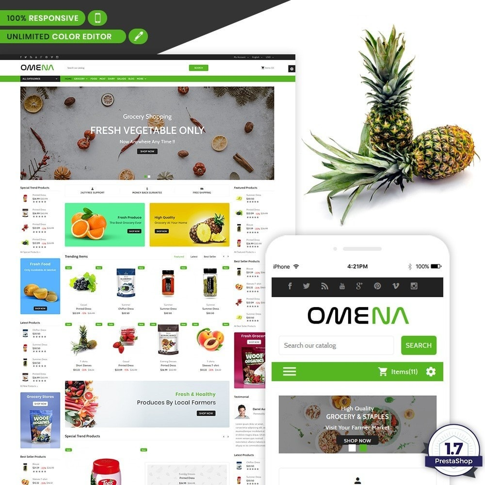 theme - Health & Beauty - Omena - The Grocery Shop - 1