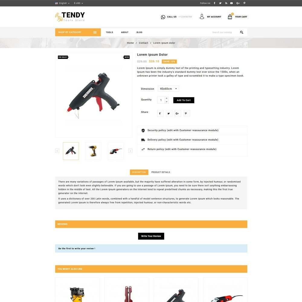 theme - Automotive & Cars - Tendy Tools Store - 4