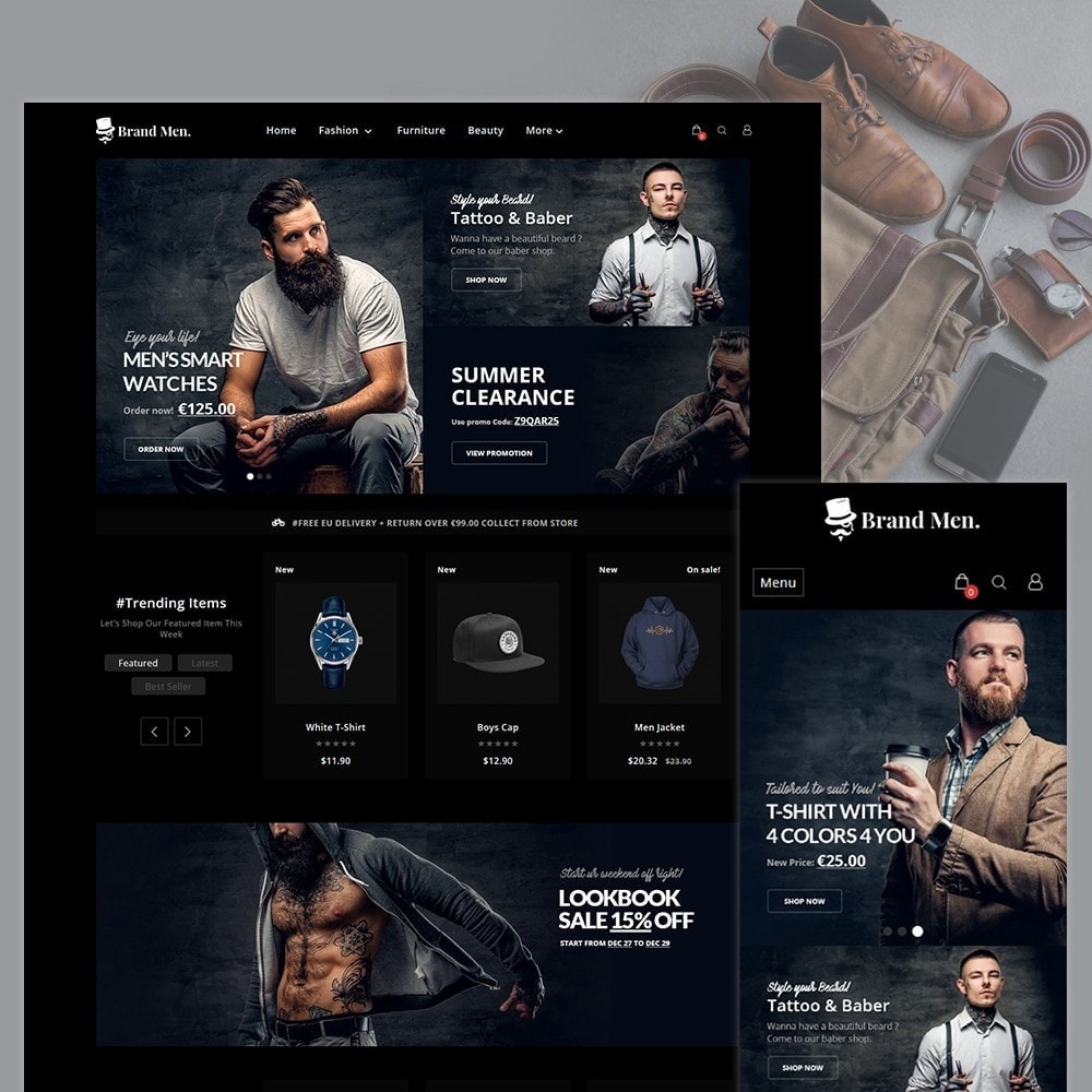 theme - Fashion & Shoes - Brand Men–Fashion Store - 1