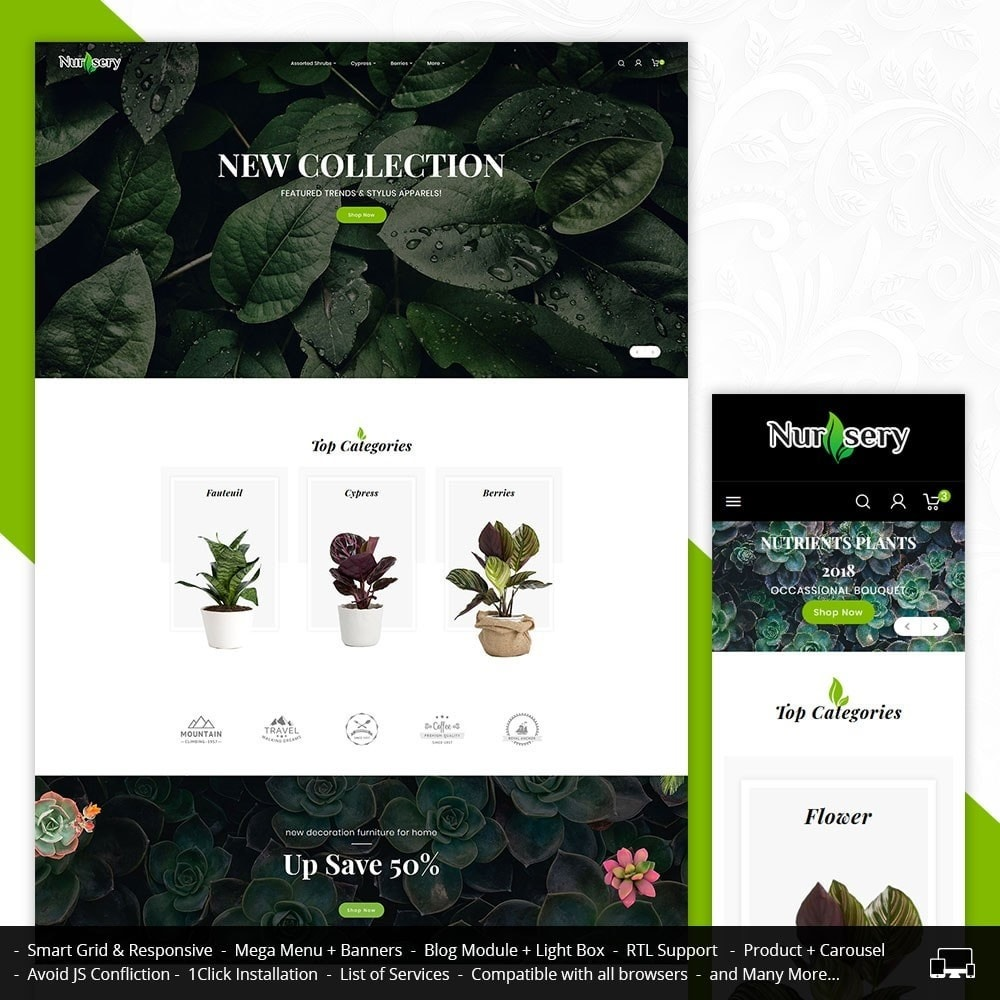 theme - Дом и сад - Nursery Plant & Green Gallery - 1