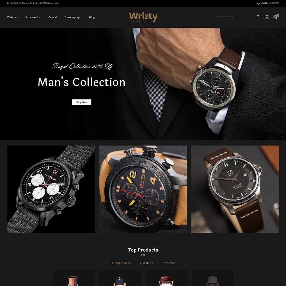 theme - Bellezza & Gioielli - Wrizty Watch Store - 2