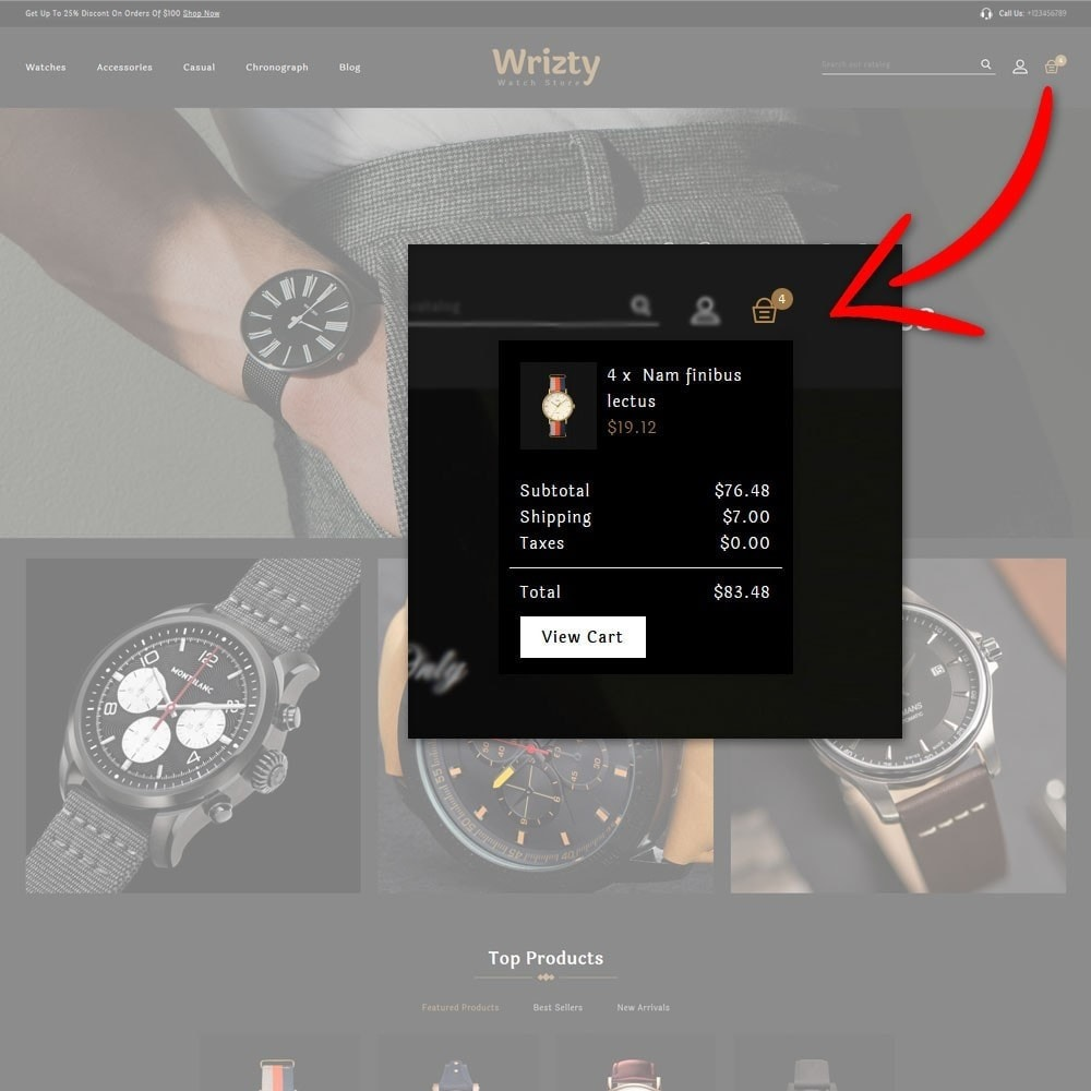 theme - Bellezza & Gioielli - Wrizty Watch Store - 8