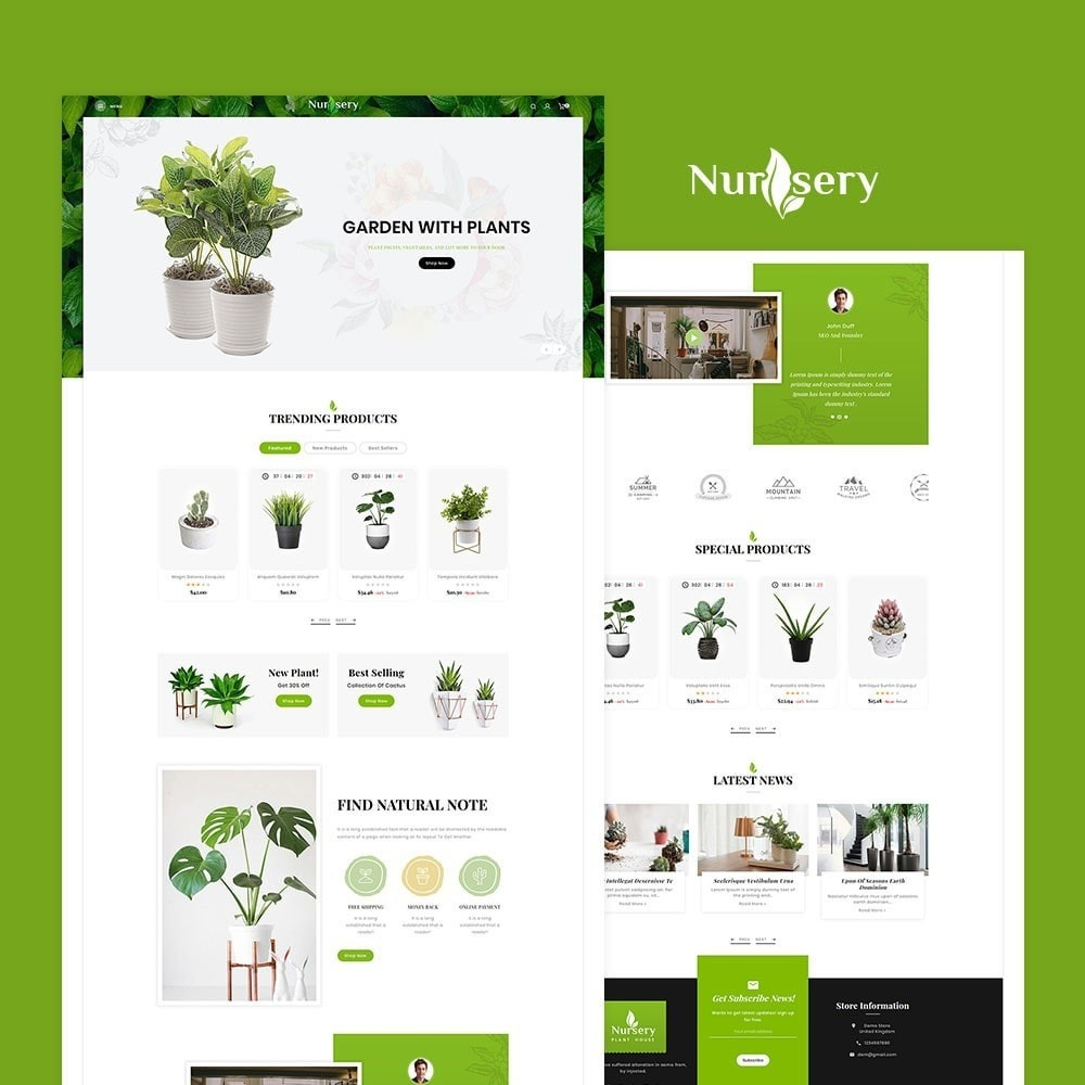 theme - Home & Garden - Nursery Plant & House - 2