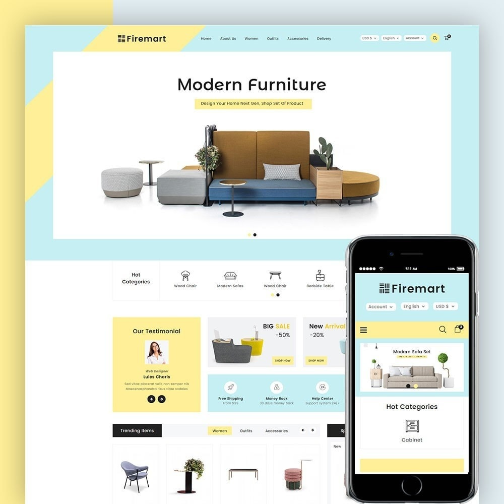 theme - Дом и сад - Firemart Furniture Store - 1