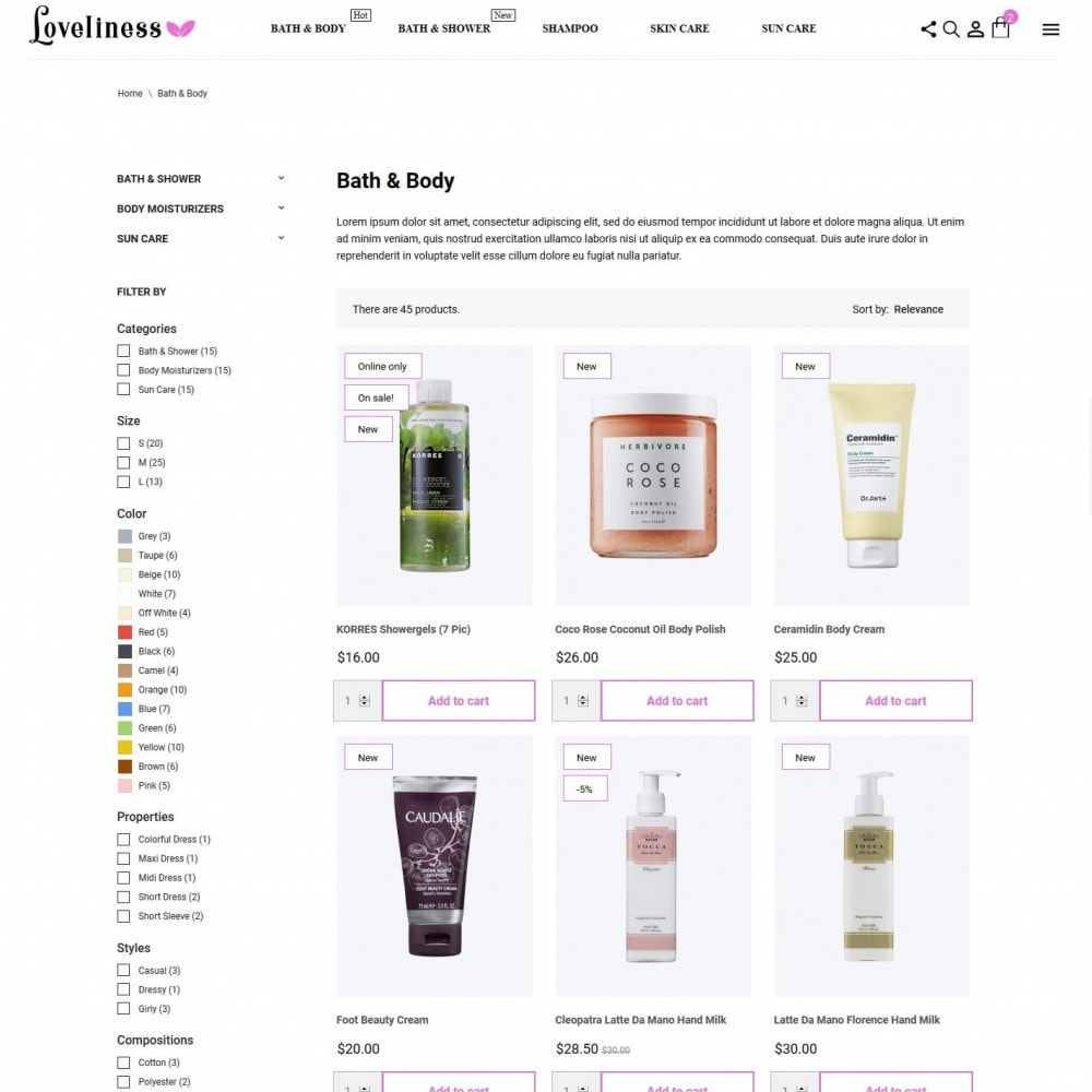 theme - Health & Beauty - Loveliness Cosmetics - 5
