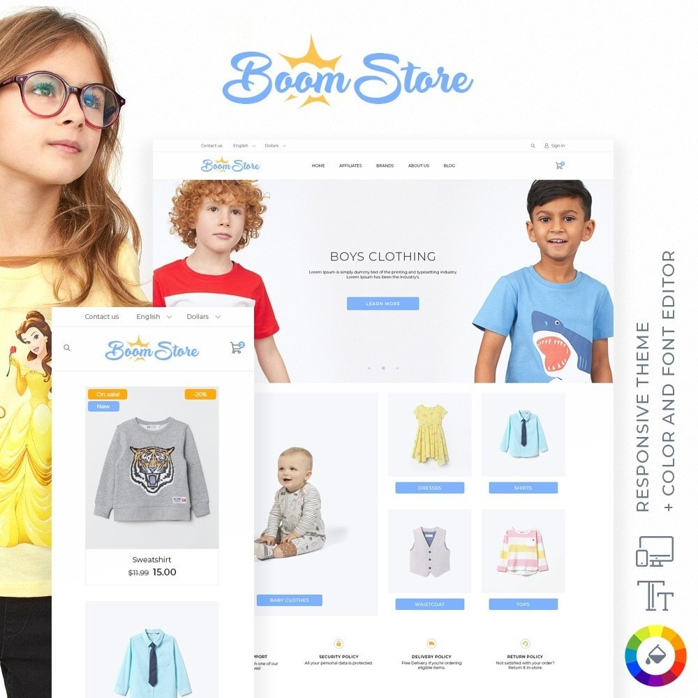 theme - Kids & Toys - BoomStore - 1