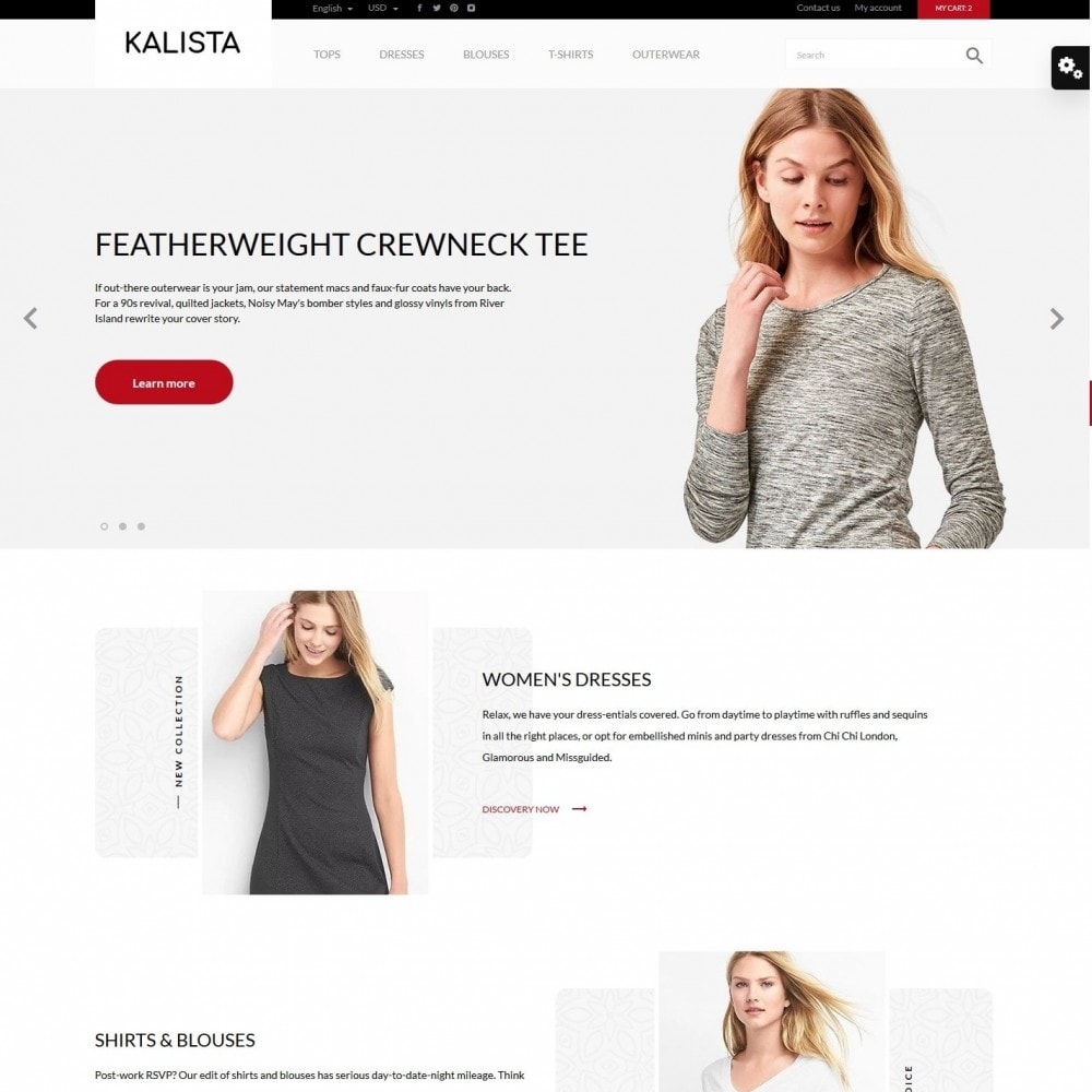 theme - Fashion & Shoes - Kalista Fashion Store - 2