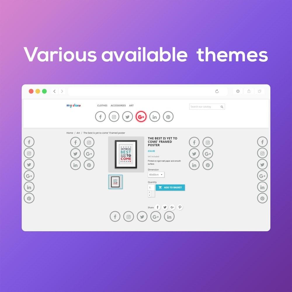 module - Widgets réseaux sociaux - Social Media Buttons (Icons) - 8