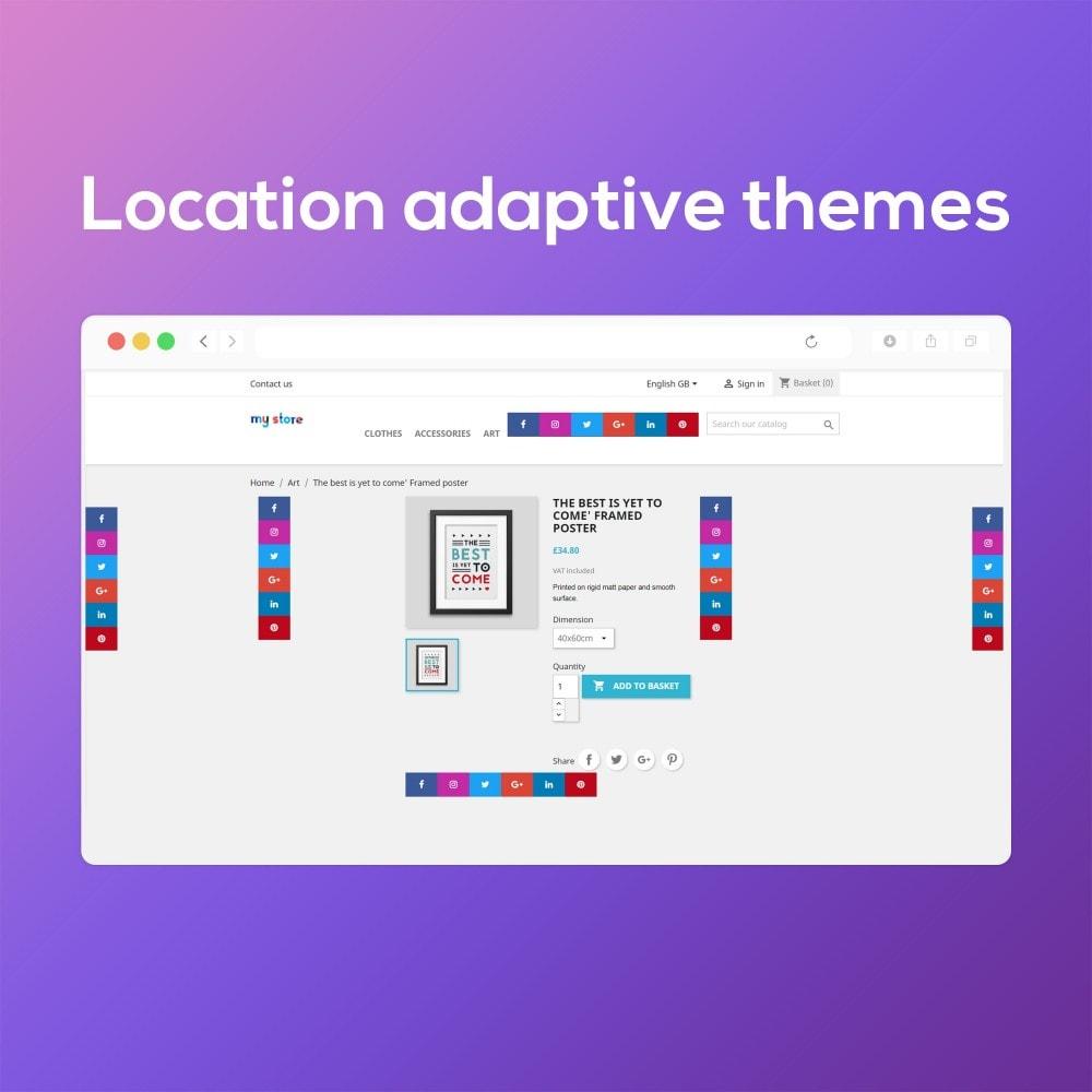 module - Widgets réseaux sociaux - Social Media Buttons (Icons) - 9