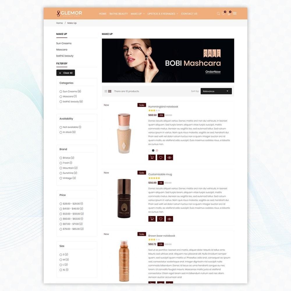 theme - Santé & Beauté - Glemor Cosmetic Store - 4
