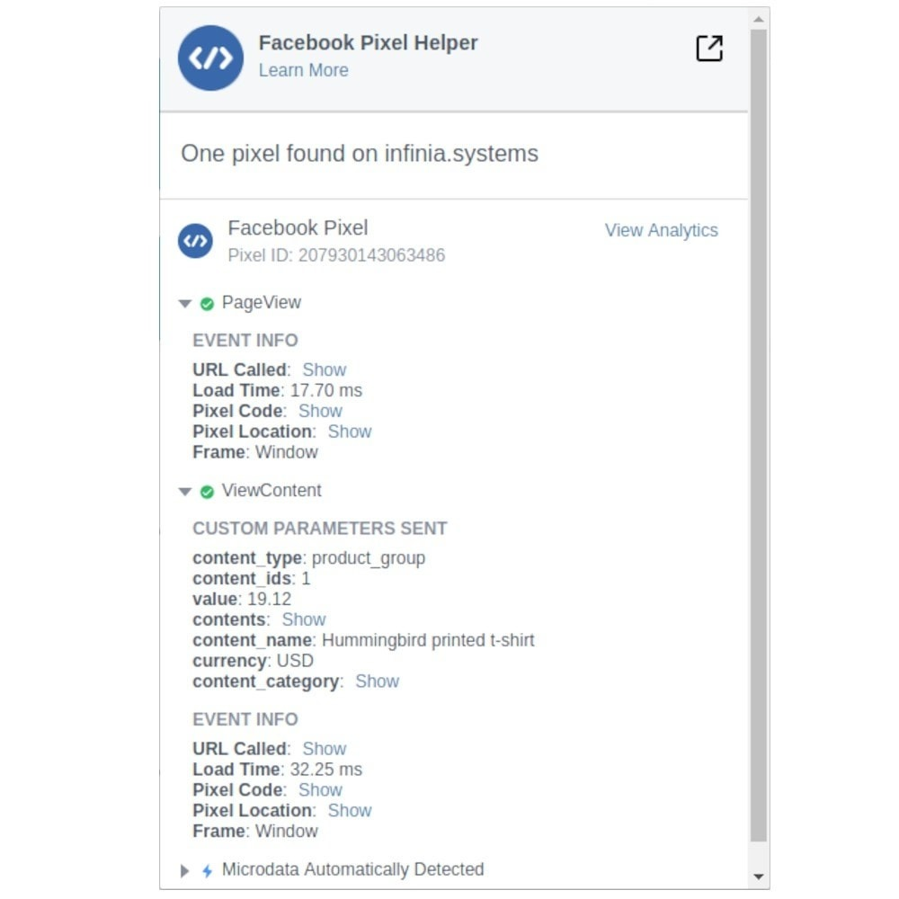 module - Produkten op Facebook & sociale netwerken - Social Network Pixel (Script Manager) - 4
