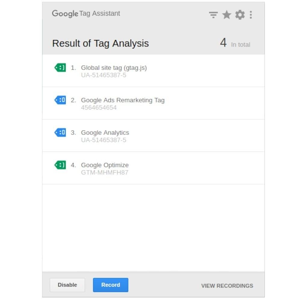 module - Статистика и анализ - Google Marketing Tags (GA4, API, GDPR...) - 9