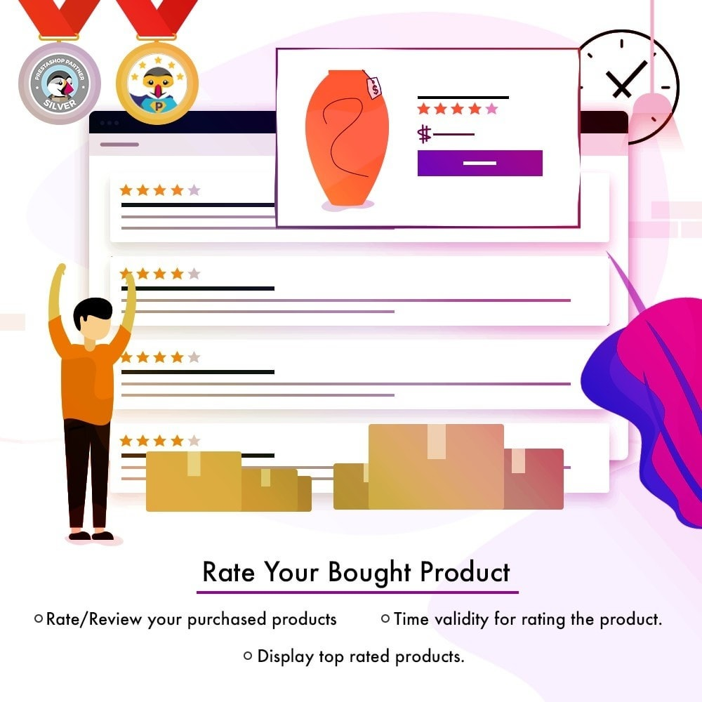 module - Customer Reviews - Product Rating & Comments|Email Reminder|Voucher Reward - 1