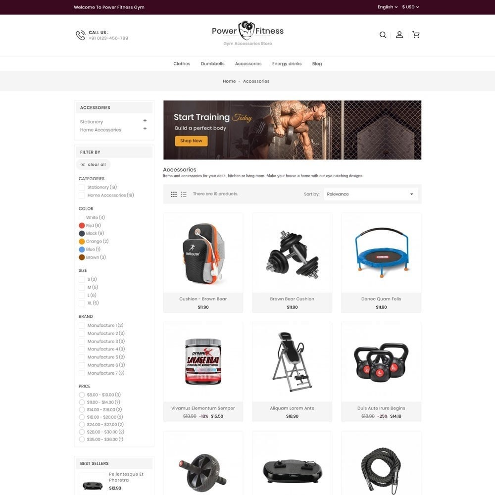 theme - Sport, Rozrywka & Podróże - Power Fitness Online Store - 3
