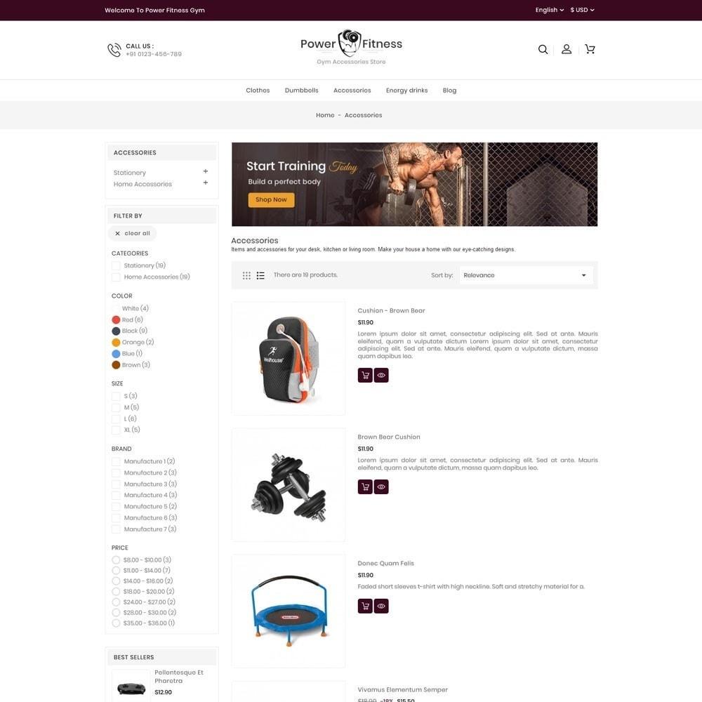 theme - Sport, Rozrywka & Podróże - Power Fitness Online Store - 4