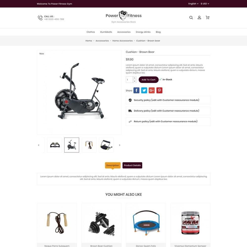 theme - Sport, Rozrywka & Podróże - Power Fitness Online Store - 5
